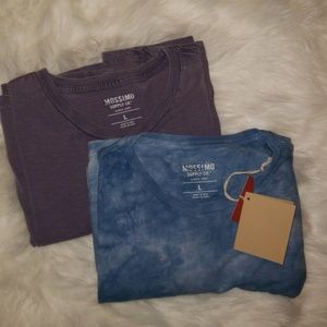 TWO BRAND NEW DISTRESSED T SHIRTS MOSSIMO SIZE L
